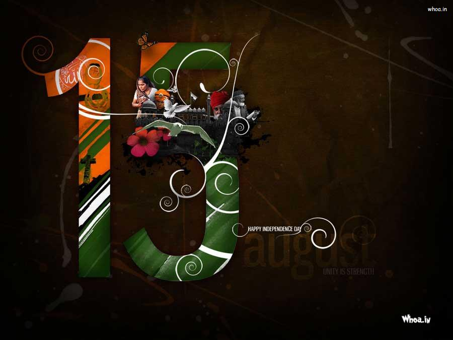 15 August Independence Day With Indian Culture Hd Wallpaper
