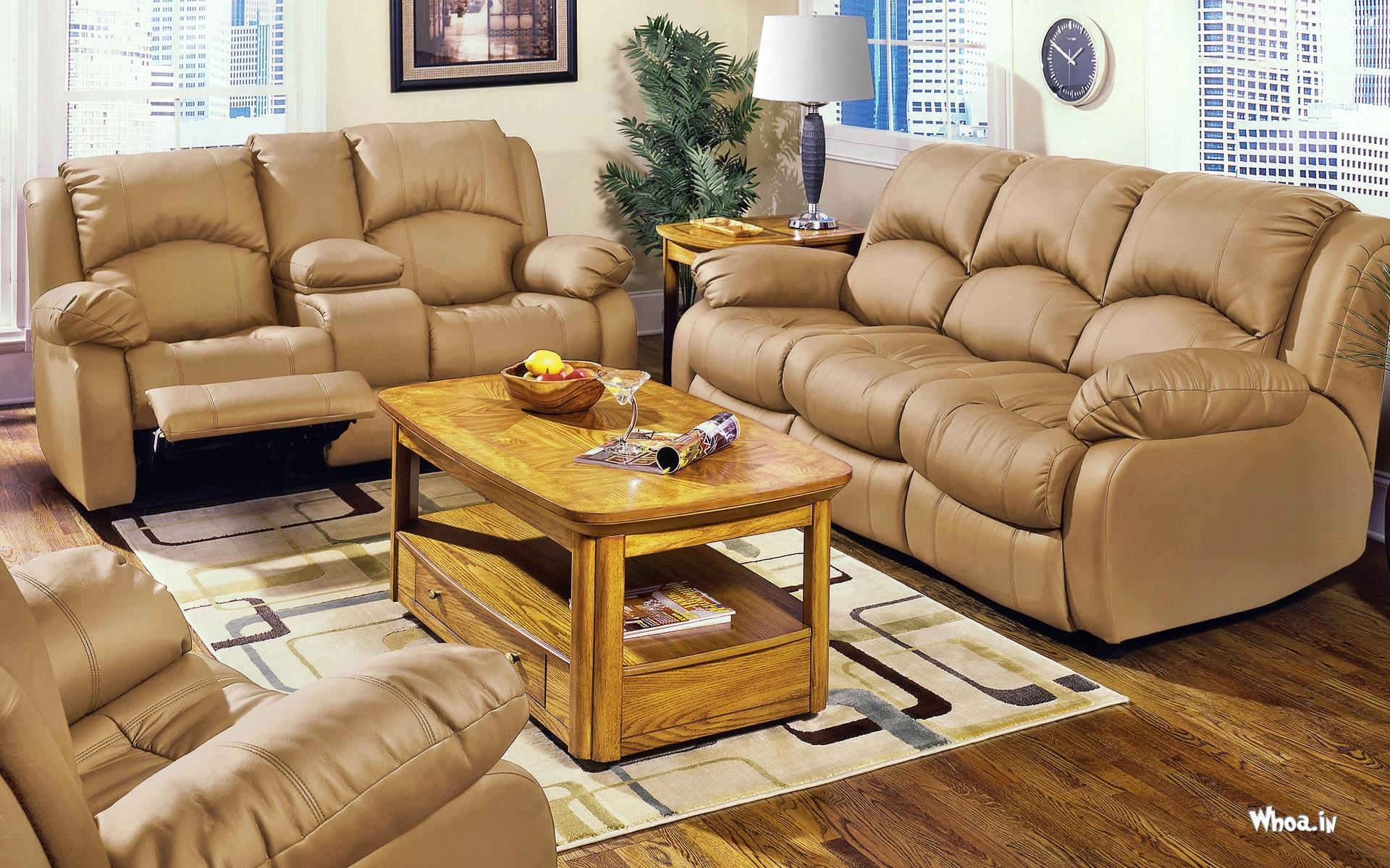 3 X 2 X 1 Gry Leather Sofa For Interior Design