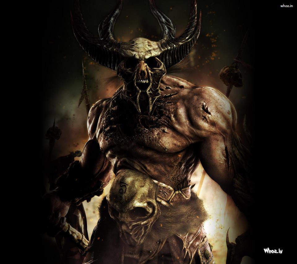 3d bull skull hd wallpaper