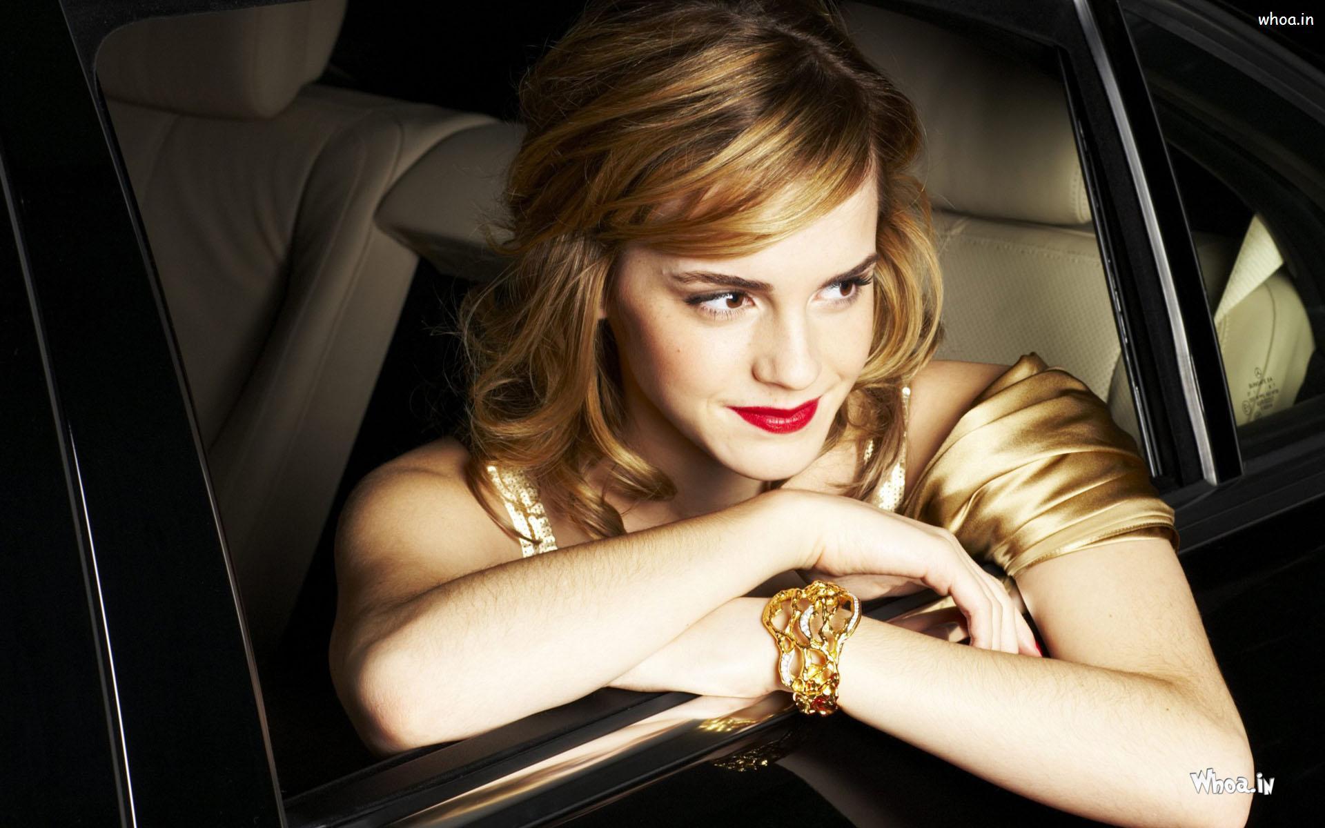Beautiful Emma Watson In Car