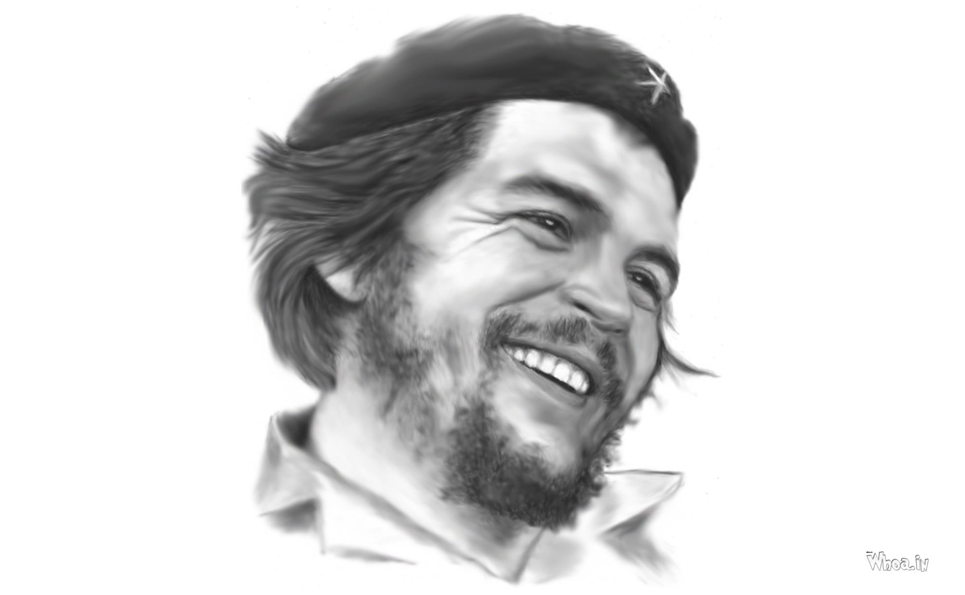 Che guevara face pencil art hd wallpaper