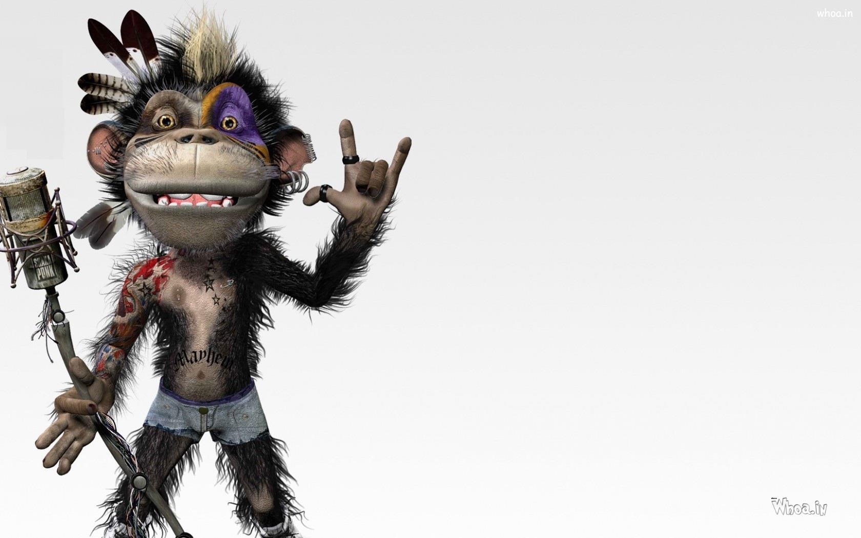 crazy monkey singer hd jungle funny wallpaper