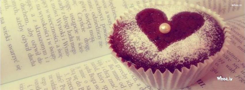 Cupcakes Love Heart Design Fb Cover