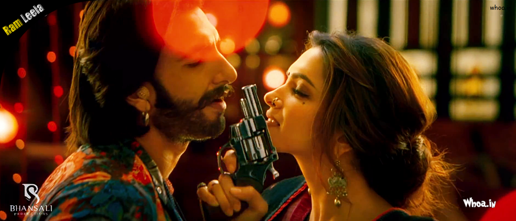 deepika padukone with gun in ram leela movie
