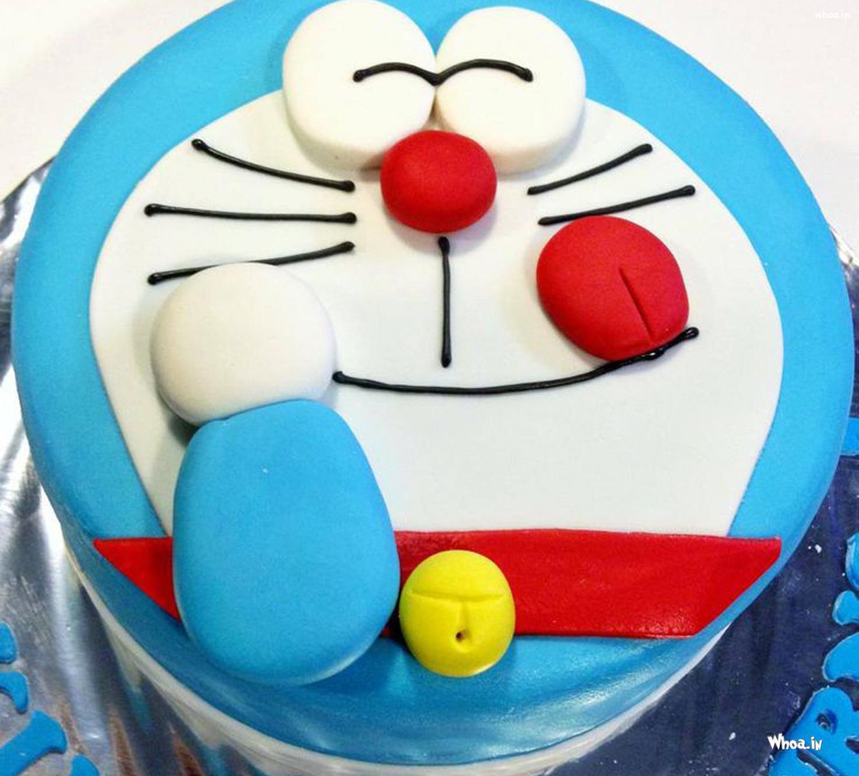 Doraemon Birthday Cake Hd Wallpaper