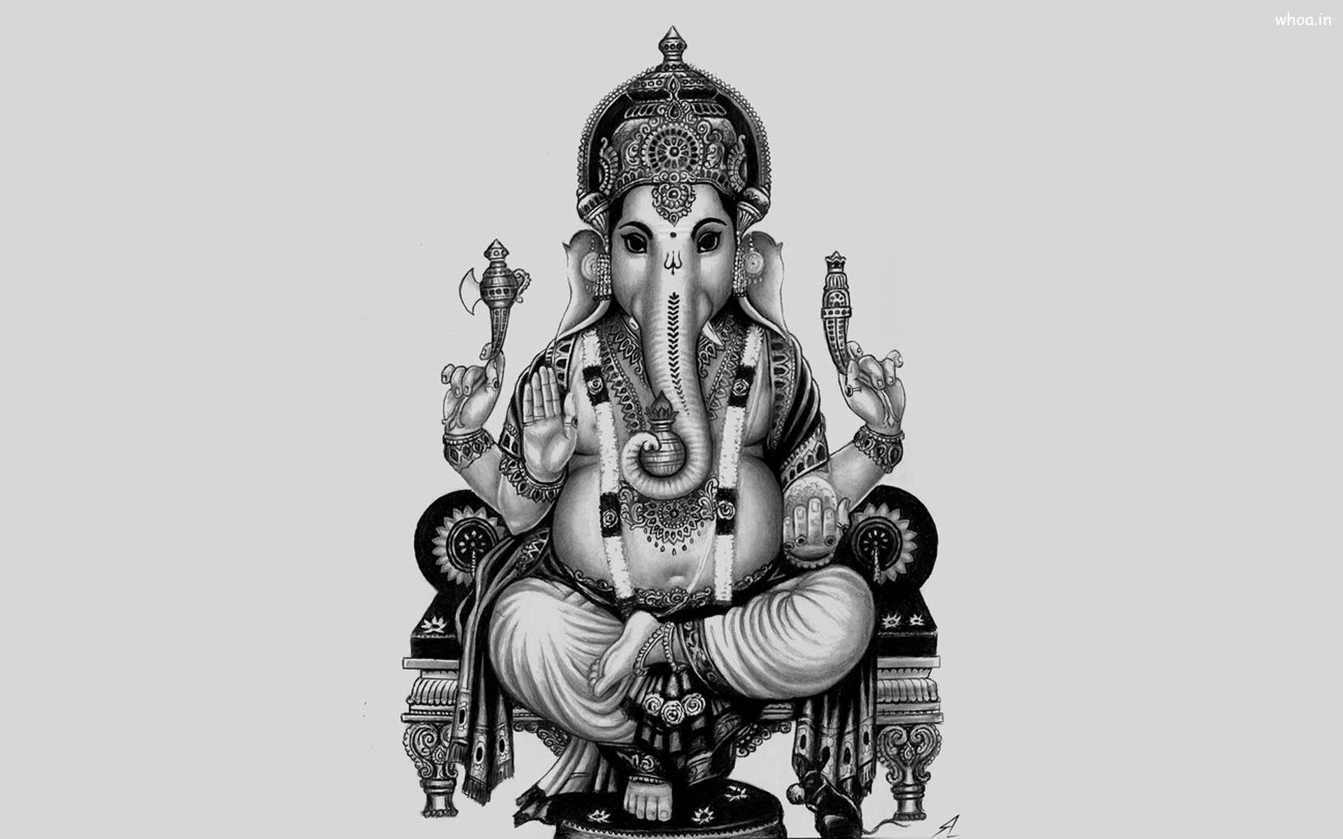 Amazing Wallpaper Lord Vinayagar - ganesh-ji-black-and-white-wallpaper  Picture_295164.in/download/ganesh-ji-black-and-white-wallpaper