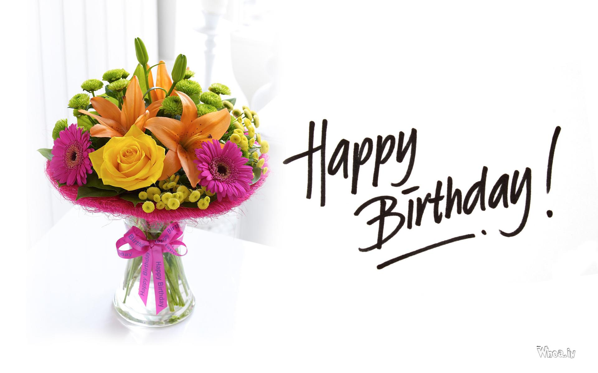 happy birthday flower hd wallpaper, Natural flower
