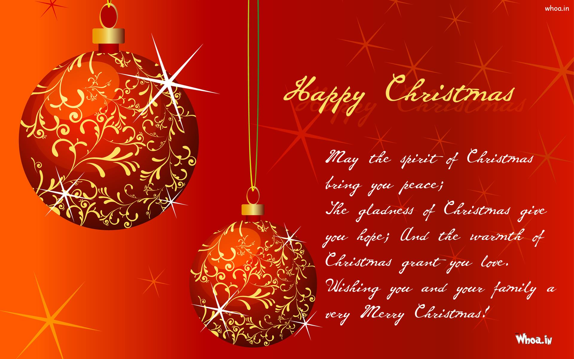 Happy Christmas Quotes Hd Wallpaper