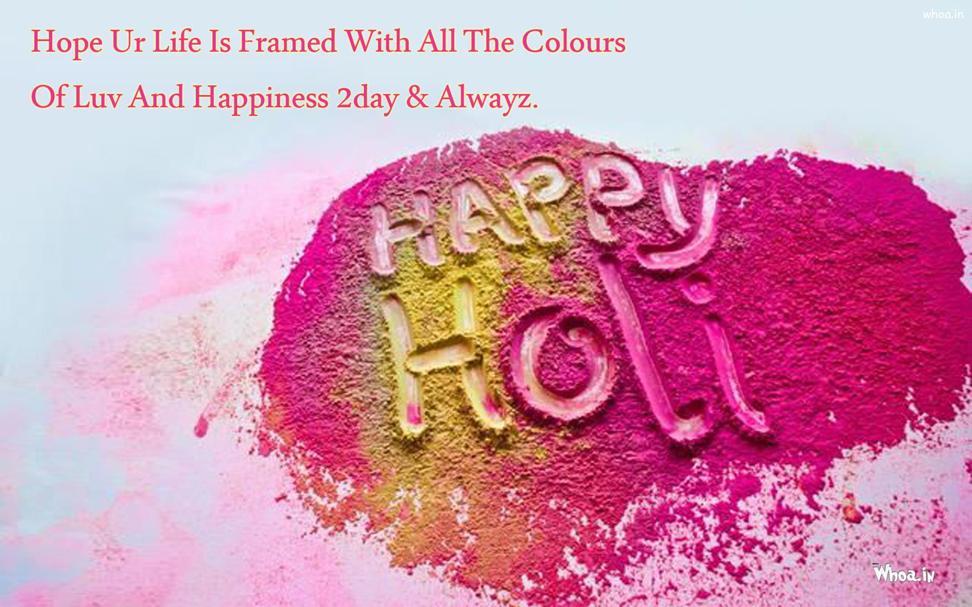 happy holi greetings with creative art hd wallpaper