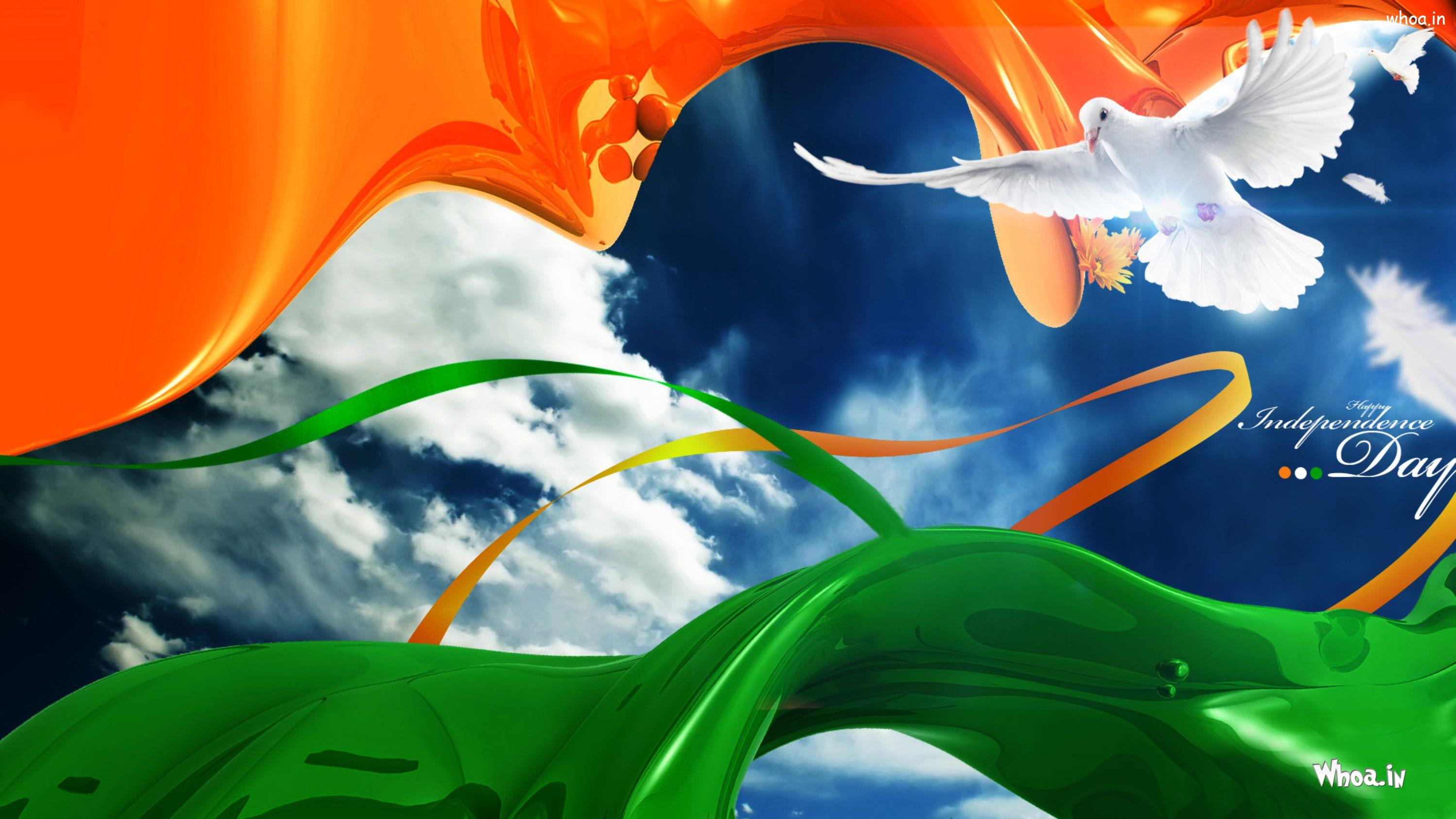 Happy Independence Day White Bird Hd Wallpaper