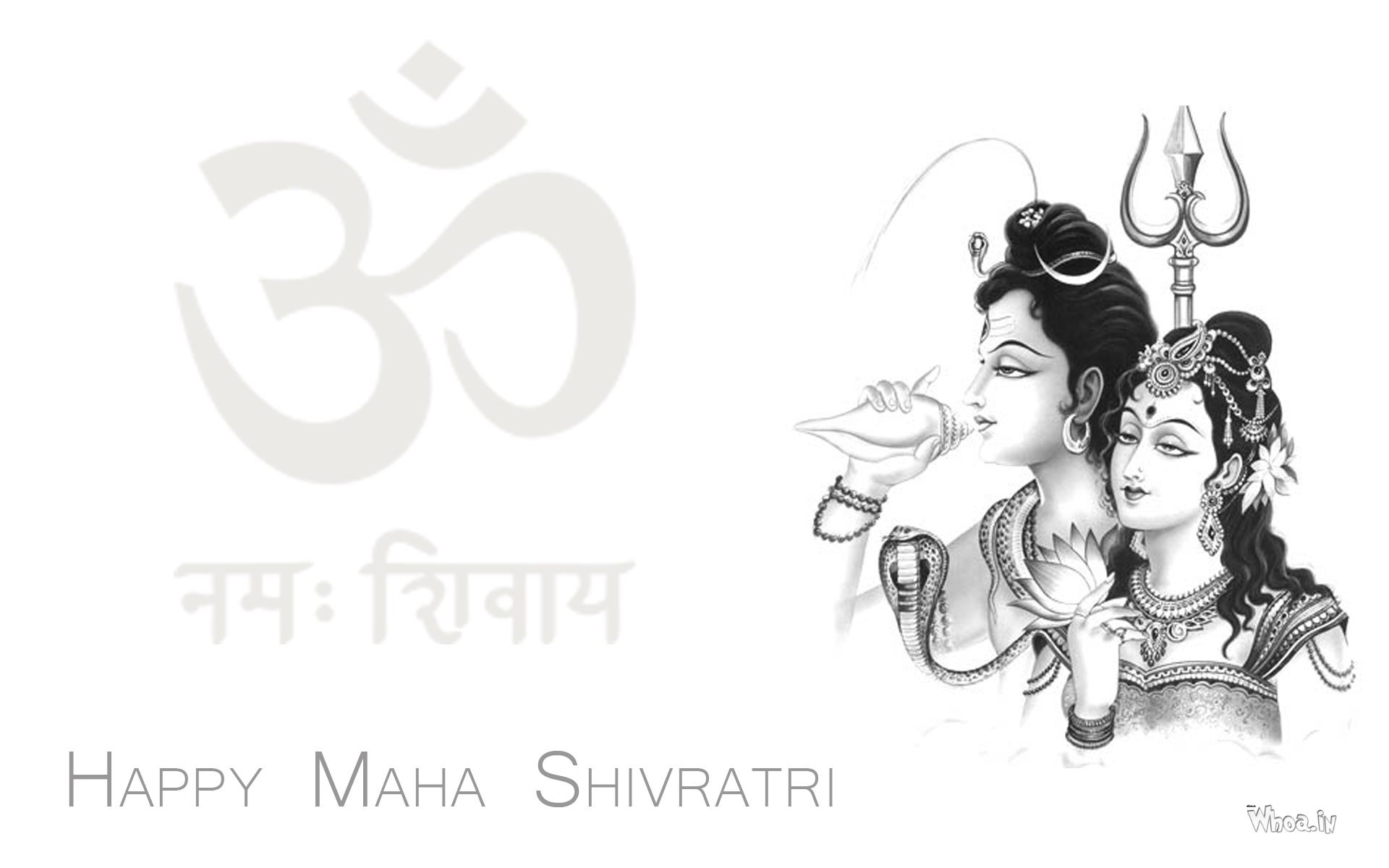 Happy maha shivratri greetings with lord shiva and parvati download m4hsunfo