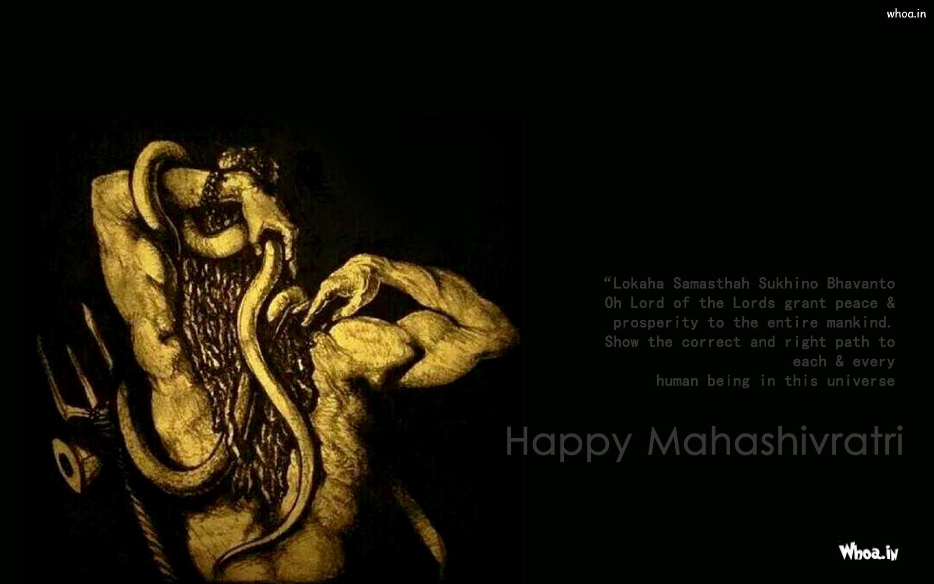 Hd wallpaper shiva - Happy Mahashivratri Greeting Wallpapers And Images
