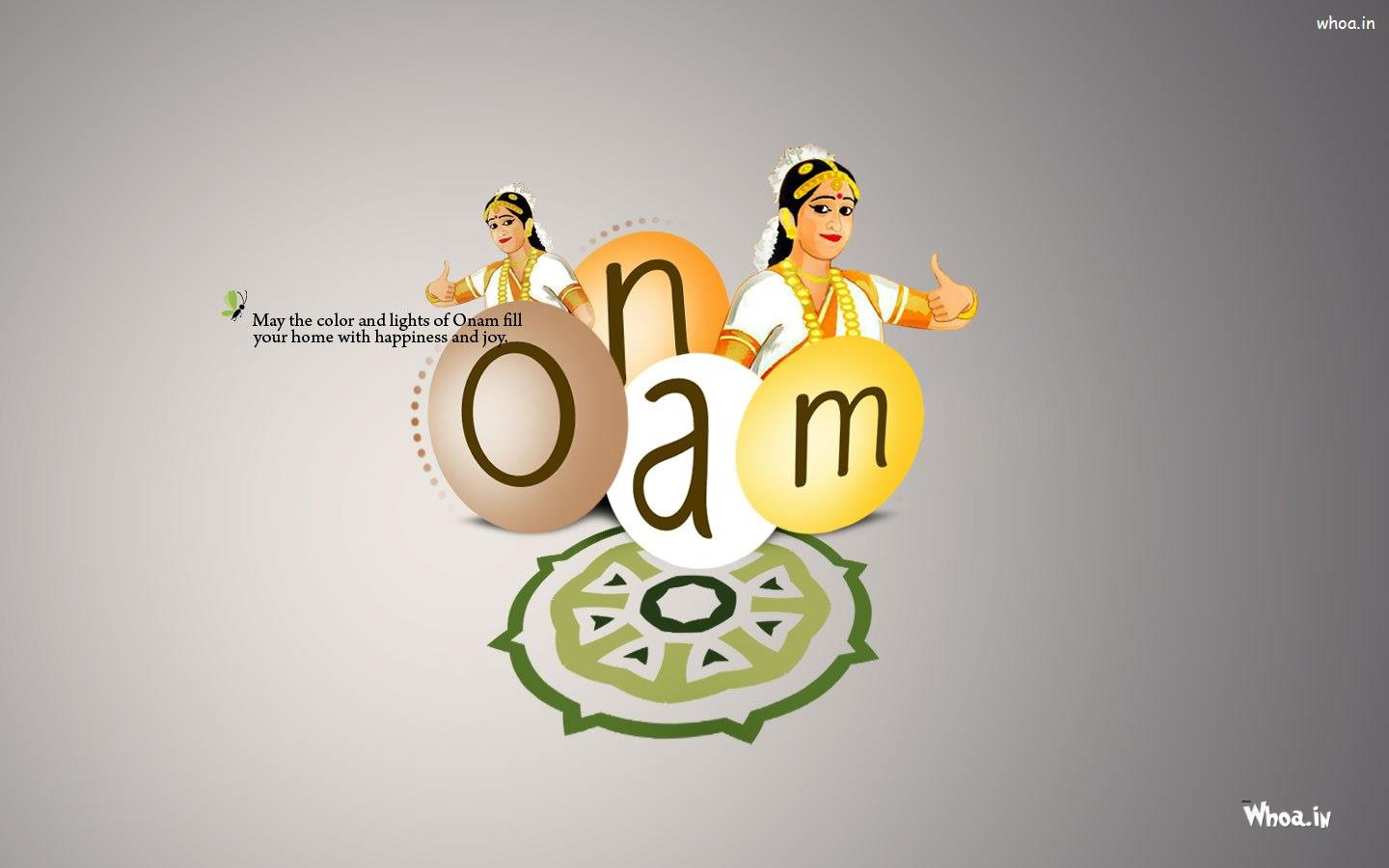 Happy Onam With Quotes Hd Greetings Wallpaper