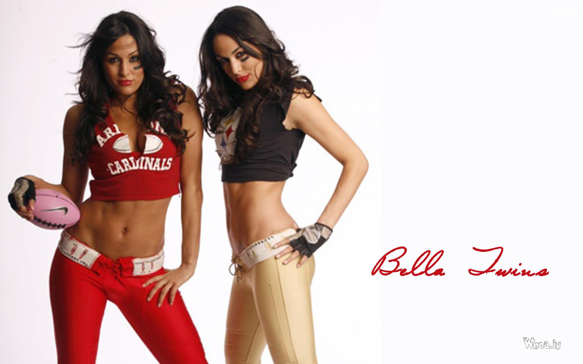 Hot The Bella Twins Giving Sexy Pose Wallpaper