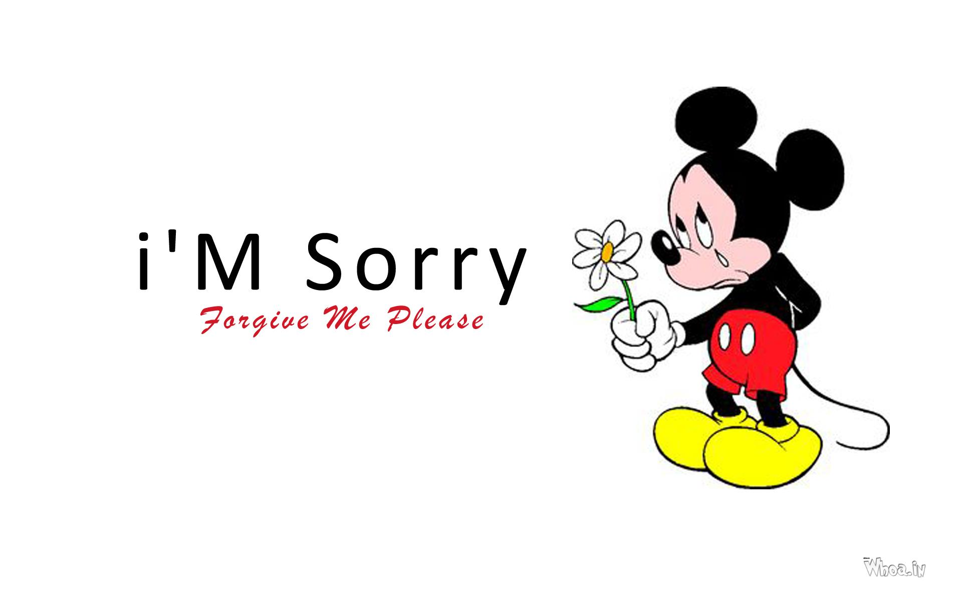 I M Sorry With Sad Mickey Mouse Hd Wallpaper