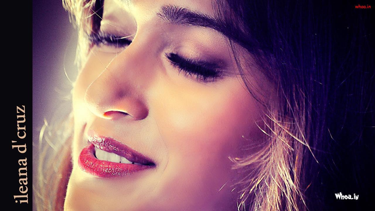 ileana dcruz close up face and red lips hd wallpaper