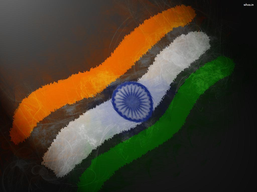 India Flag Art Hd Wallpaper For Desktop