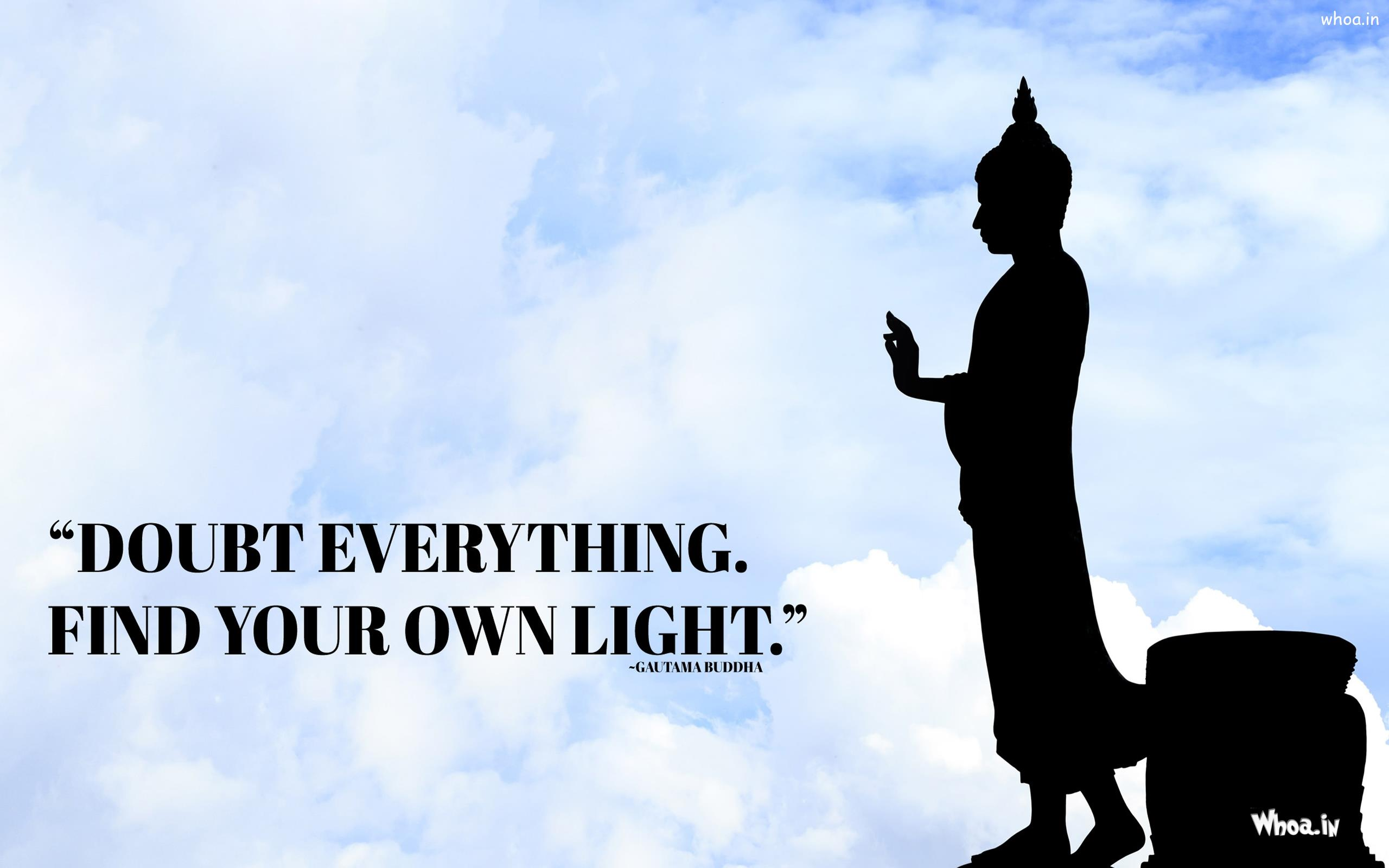 Statue Quotes Lord Buddha Statue With Quotes Hd Wallpaper