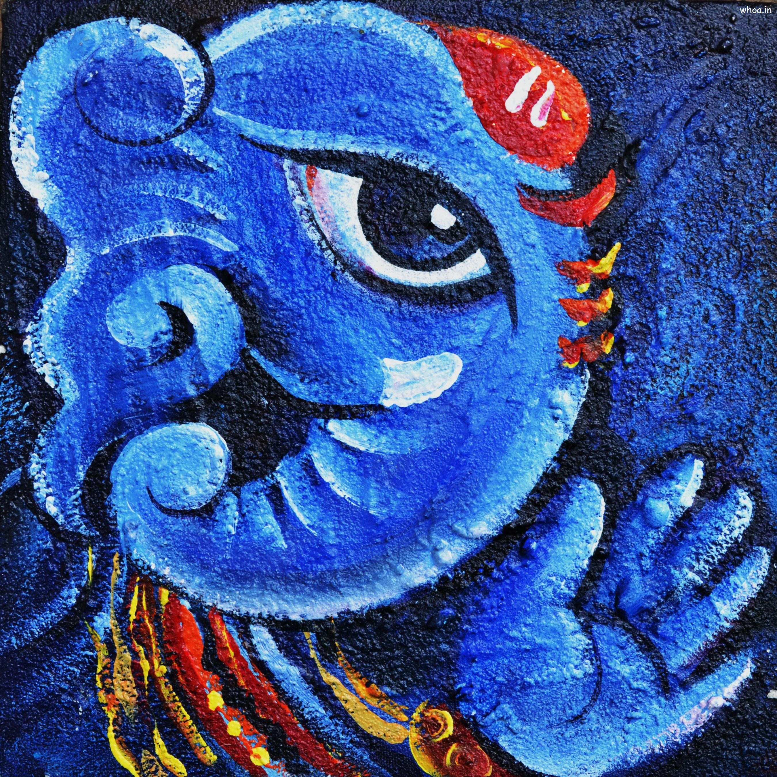Lord ganesha multi color painting hd image - Download