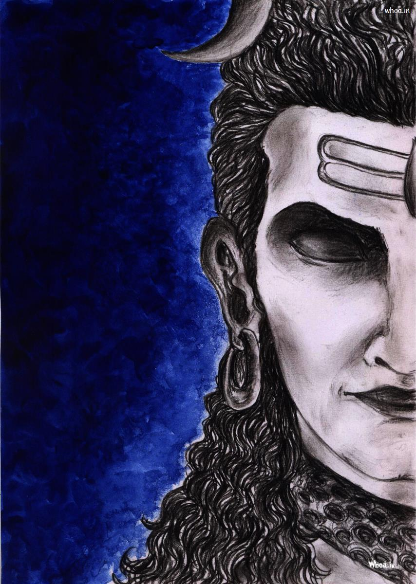 Lord Shiva Painting With