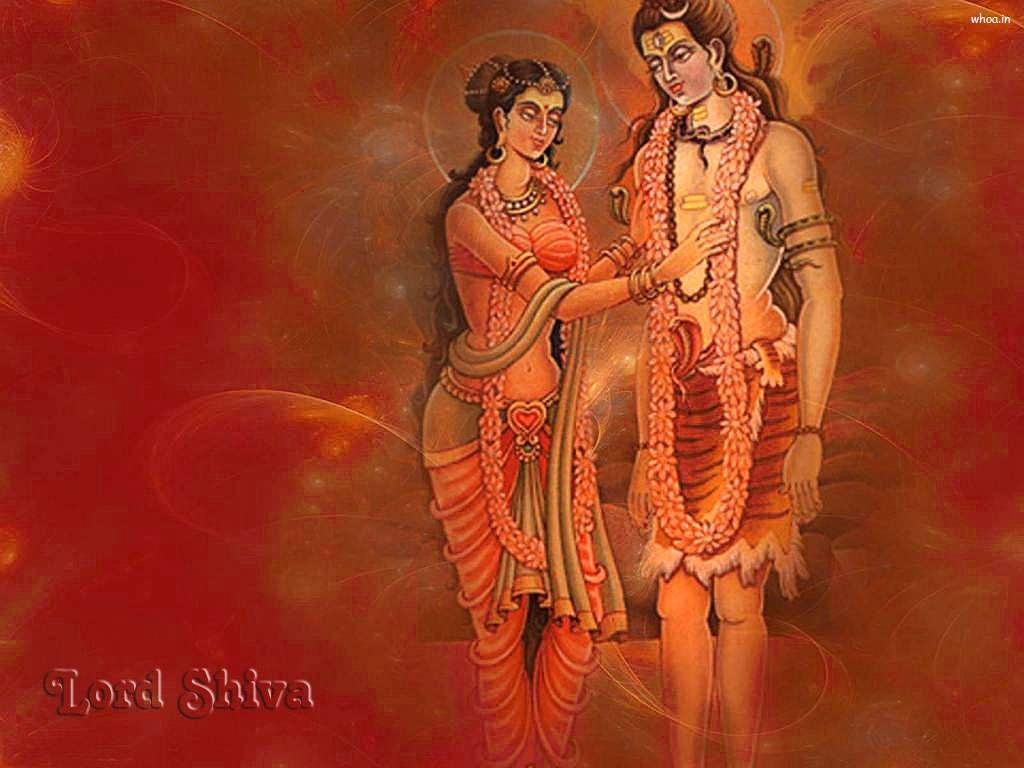 Lord Shiva Parvati Painting Art Hd Wallpaper
