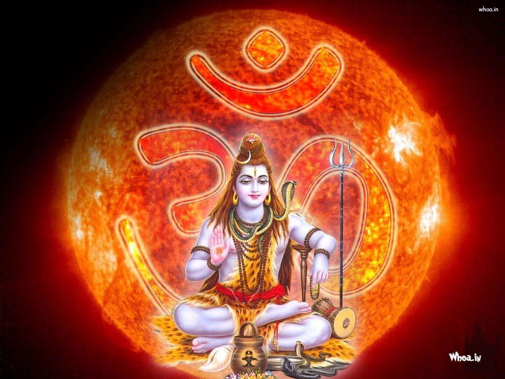 Lord Shiva Samadhi With Om Background HD Wallpaper