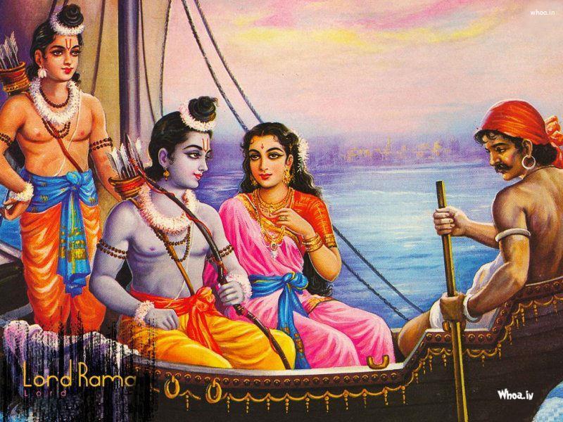 Lord Shri Ram With Sita Mata And Laxman Hd Wallpaper