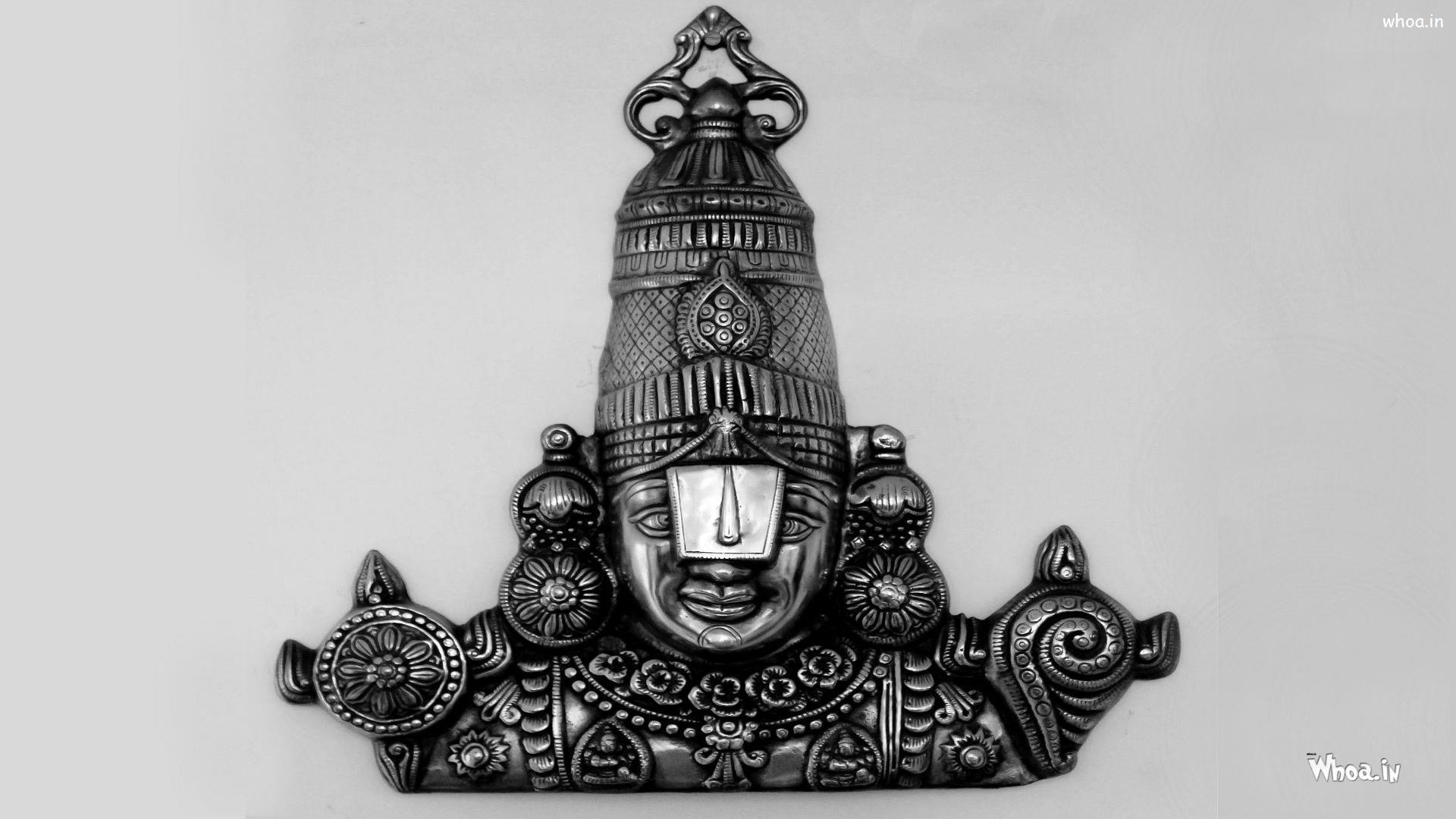 Lord Tirupati Balaji Dark Face Hd Wallpaper