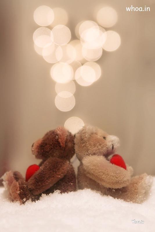 Love Of Couple Teddy Image