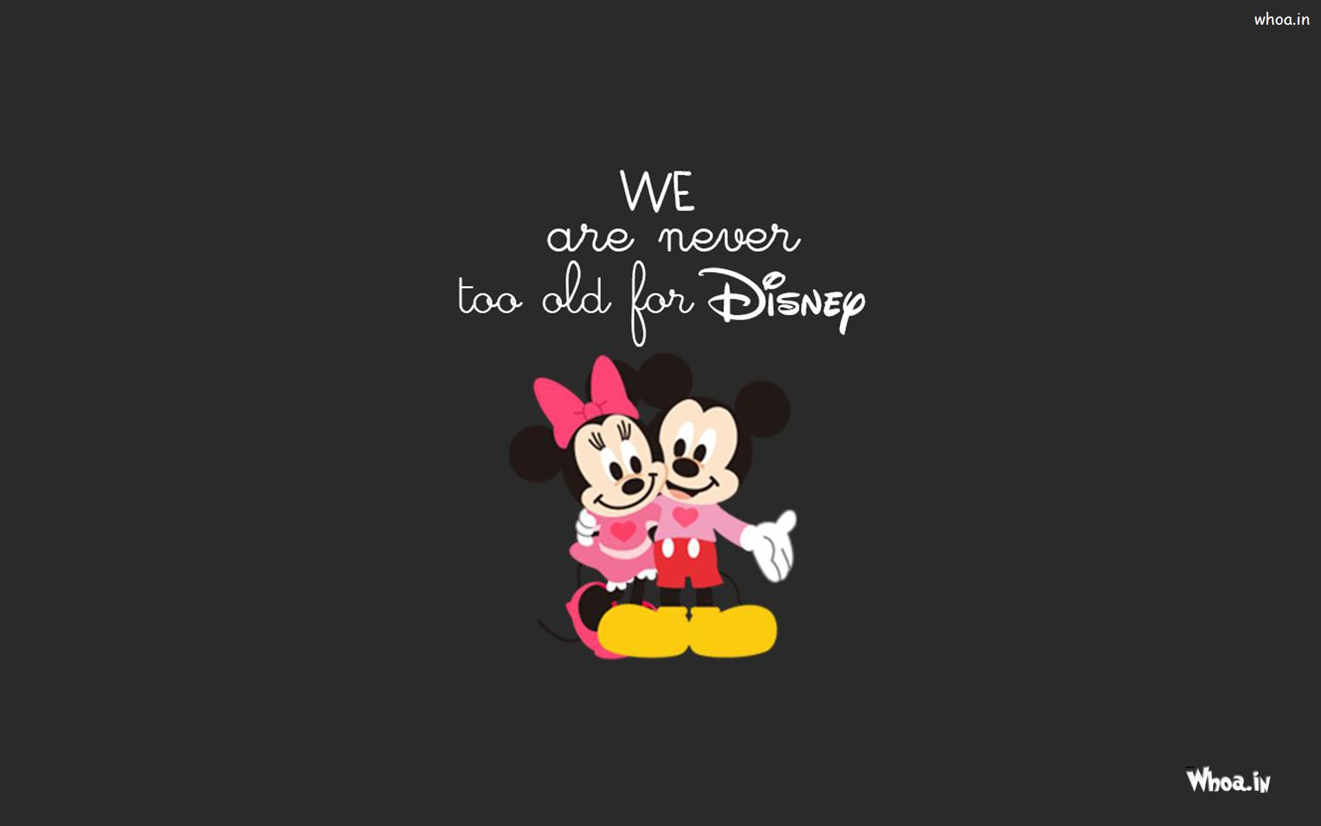 Download. WhatsAppGoogle +. Mickey And Minnie Mouse With Dark Background HD Wallpaper