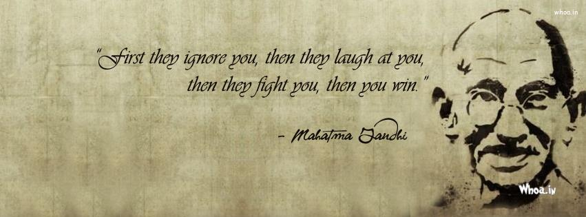 Mohandas Karamchand Gandhi Leadership Quote Fb Cover