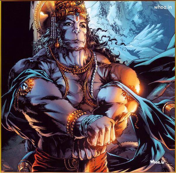 Morden Hanuman Cartoon Images With Body Builder Style