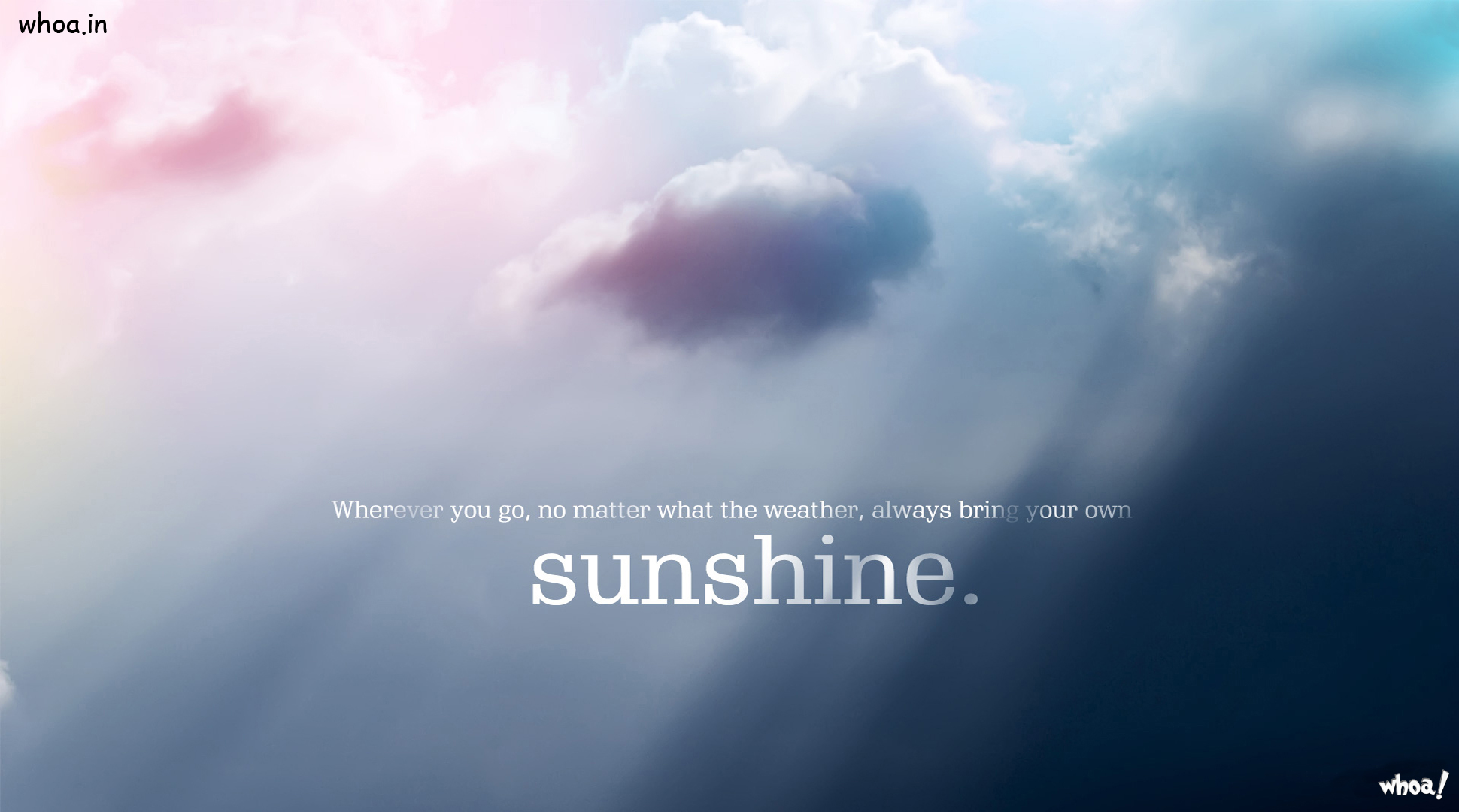 With Sky Sunshine Quotes Wallpapers