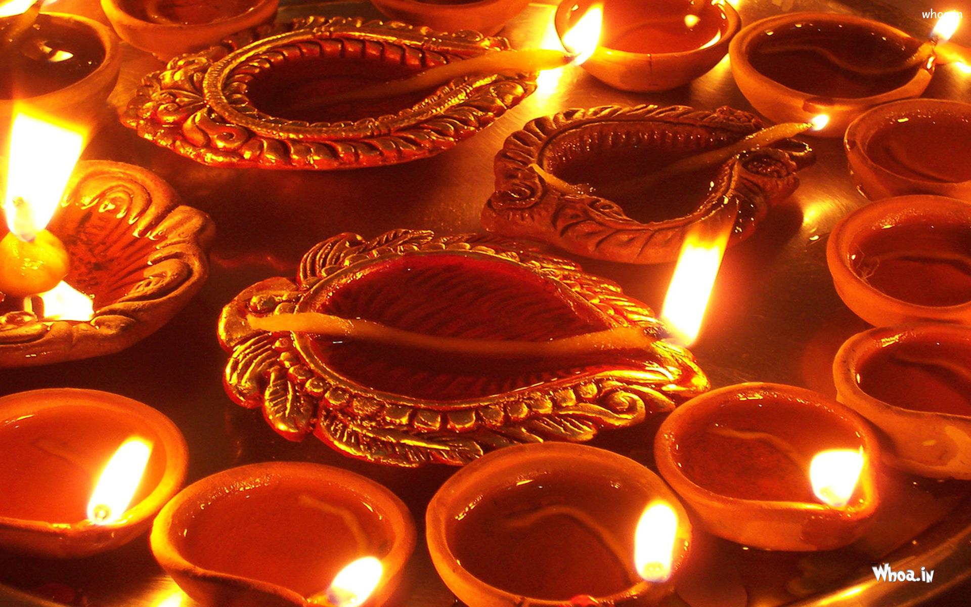 multiple designing deep for diwali greeting wallpaper