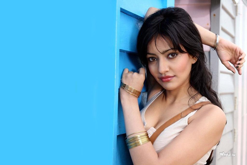 Neha Sharma Hot Cleavage Hd Wallpaper