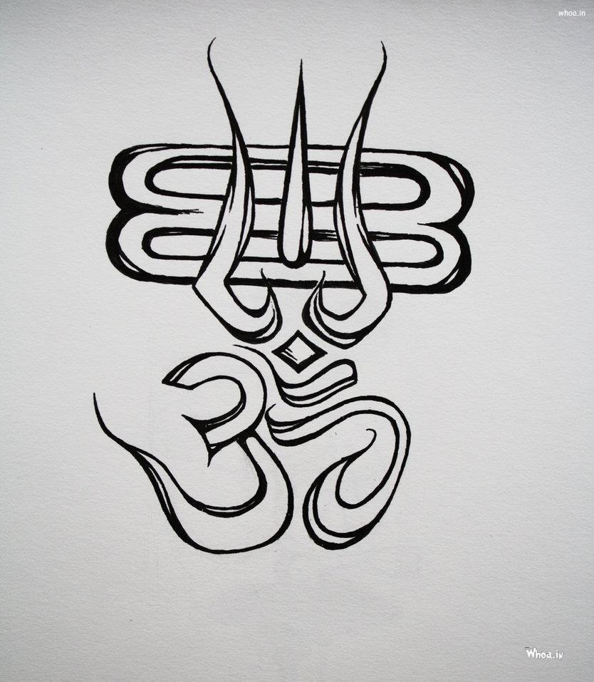 Om Symbol Creative Art Hd Wallpaper