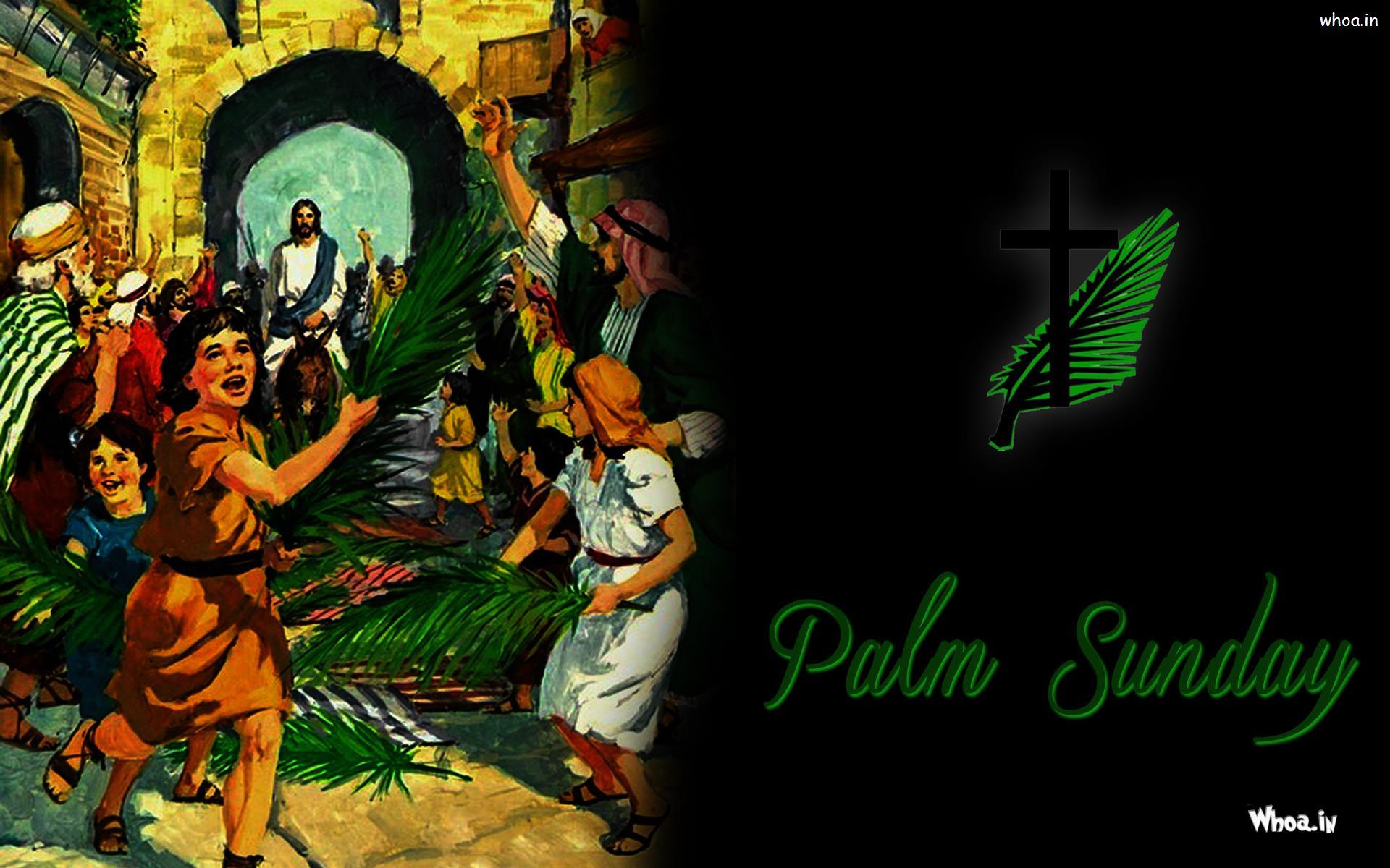 Palm Sunday Dark Background Wallpaper