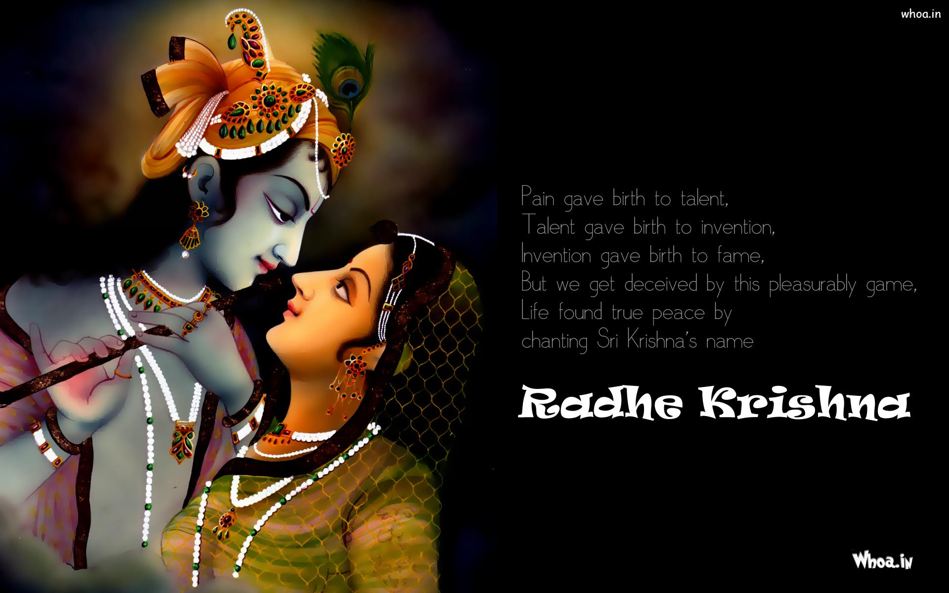 Wallpaper download krishna - Radhe Krishna Wallpapers With Quote 2