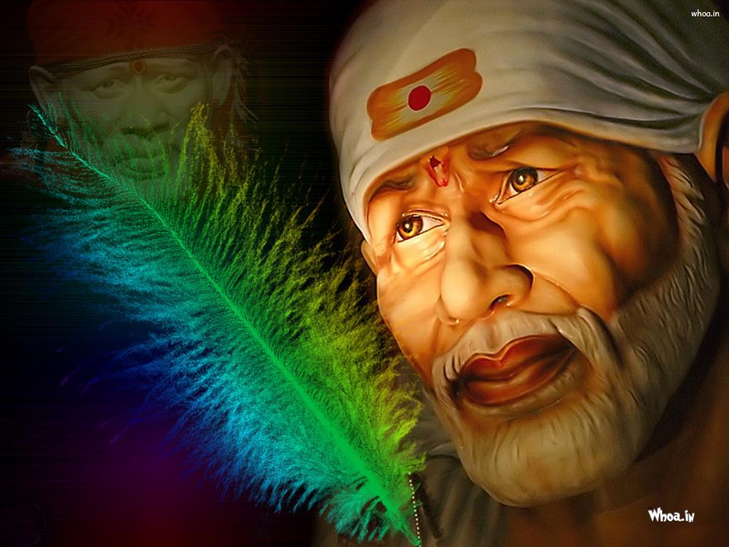 Sai Baba Face Hd Wallpaper