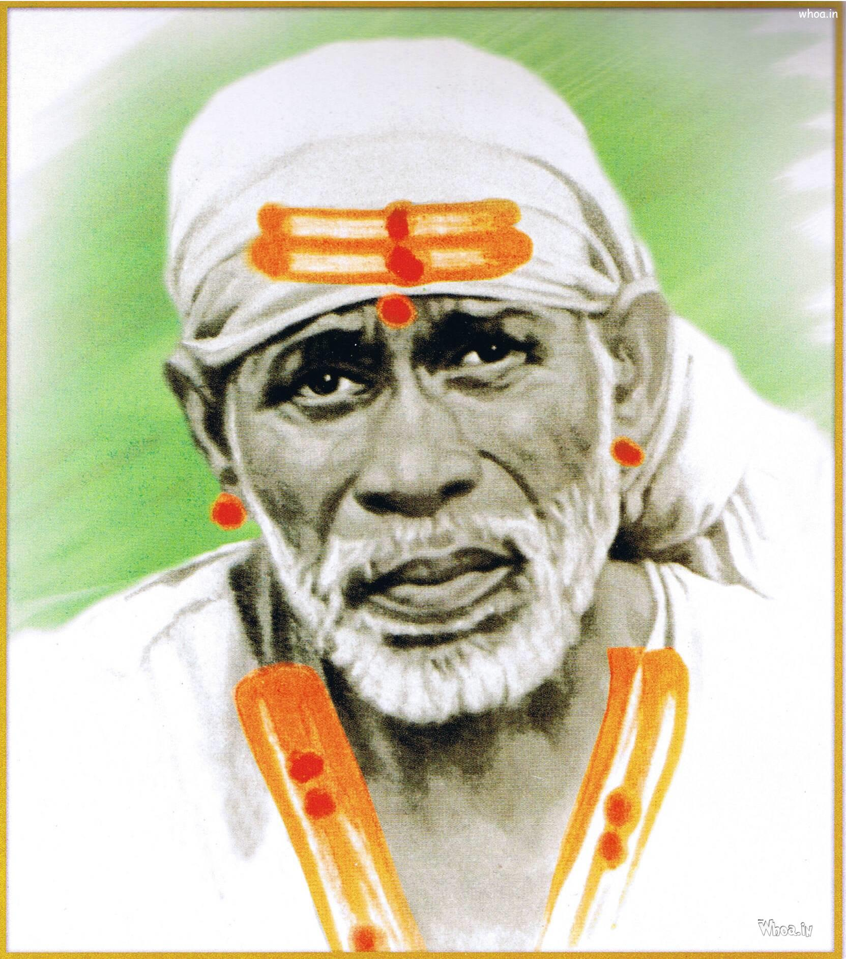 Shirdi Sai Baba Old Original Hd Wallpaper
