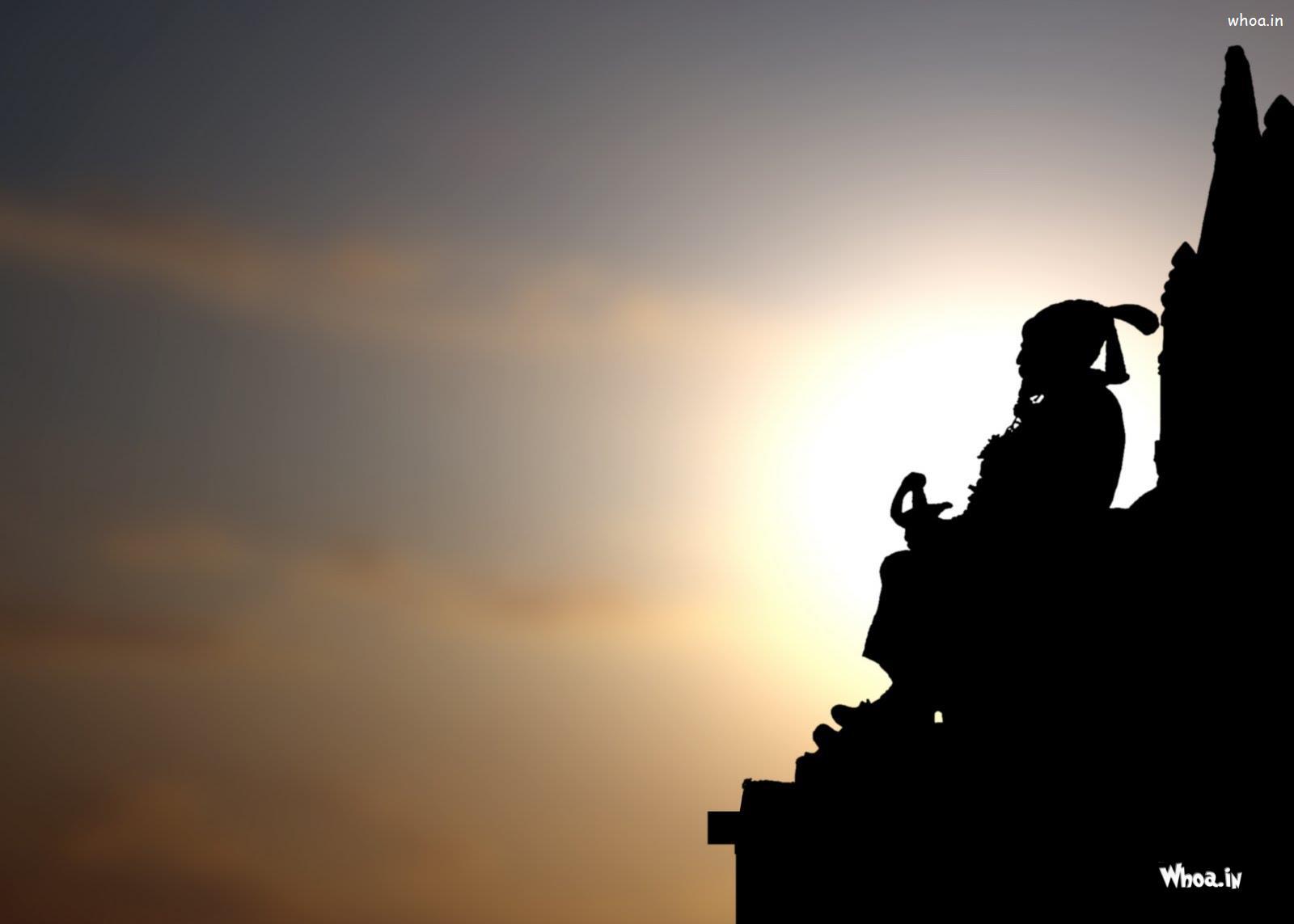 Shivaji Maharaj Statue With Sunset Hd Wallpaper