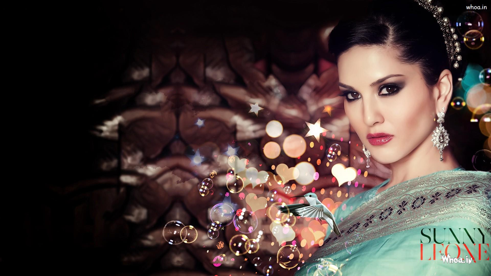 sunny leone hd wallpaper in saree