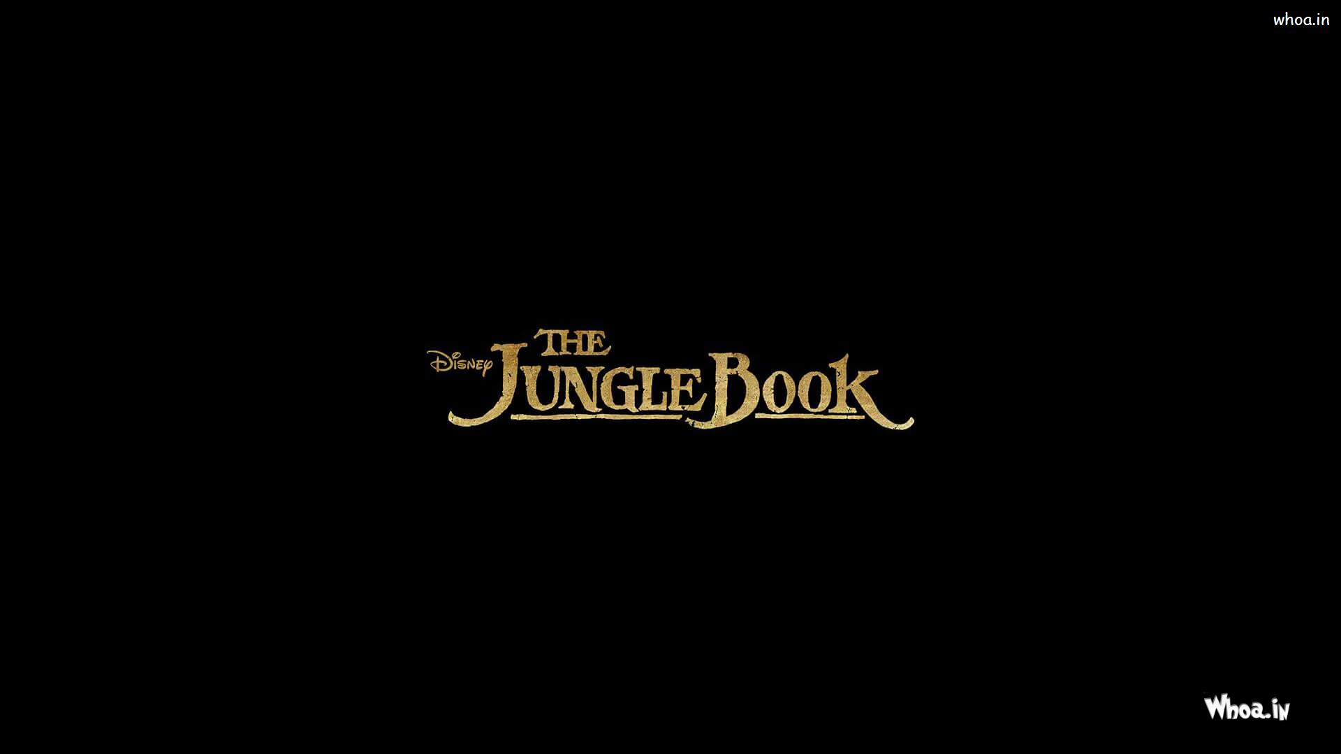 the jangle book hollywood movie poster with dark background