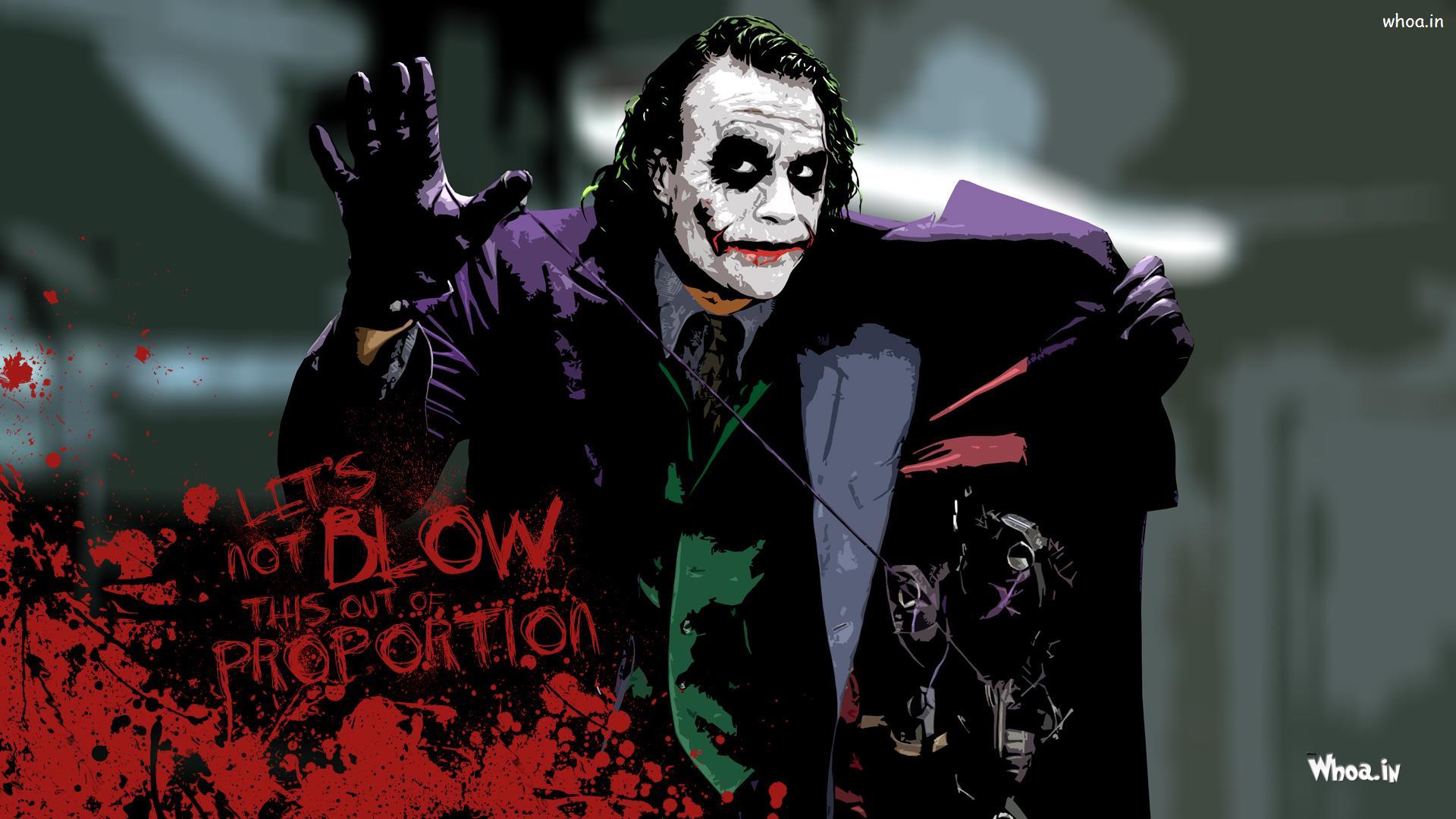 Hd wallpaper of joker -  The Joker Heath Ledger With Quotes Hd Wallpaper