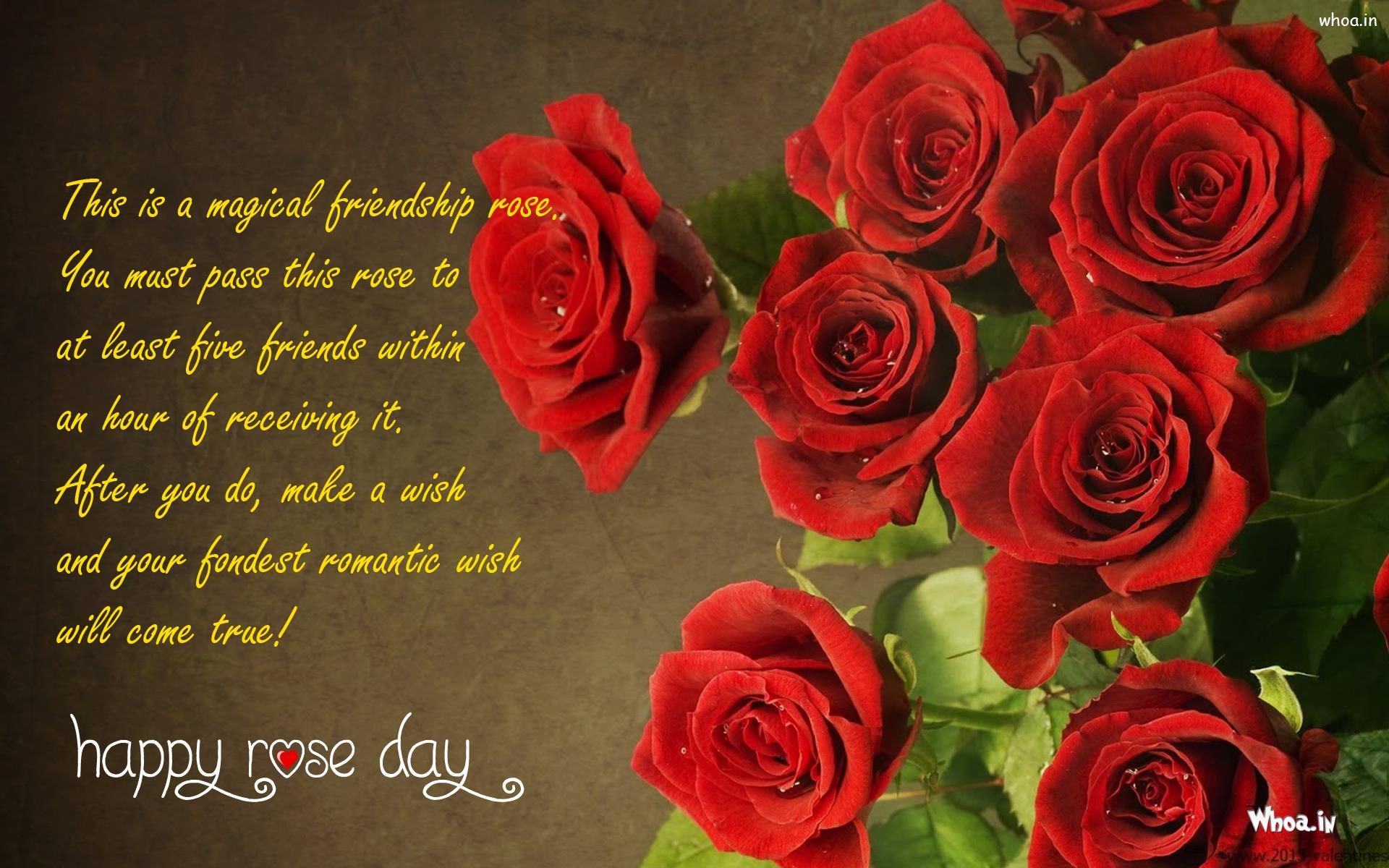 This Is A Magical Friendship Quote Happy Rose Day Greetings