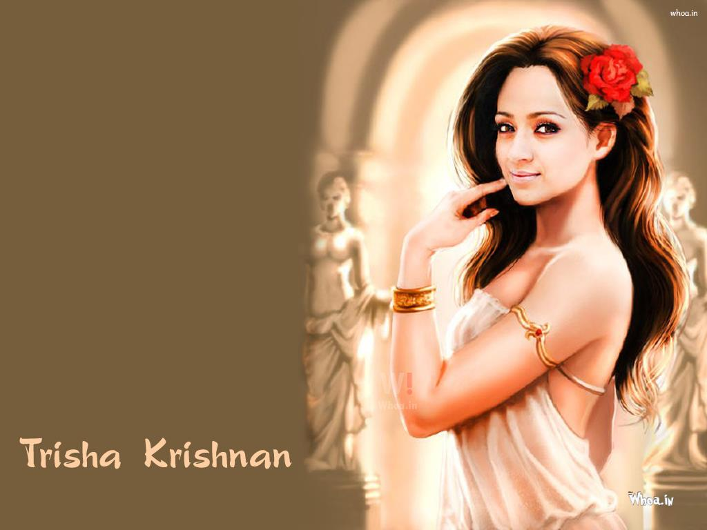 trisha krishnan painting art wallpaper