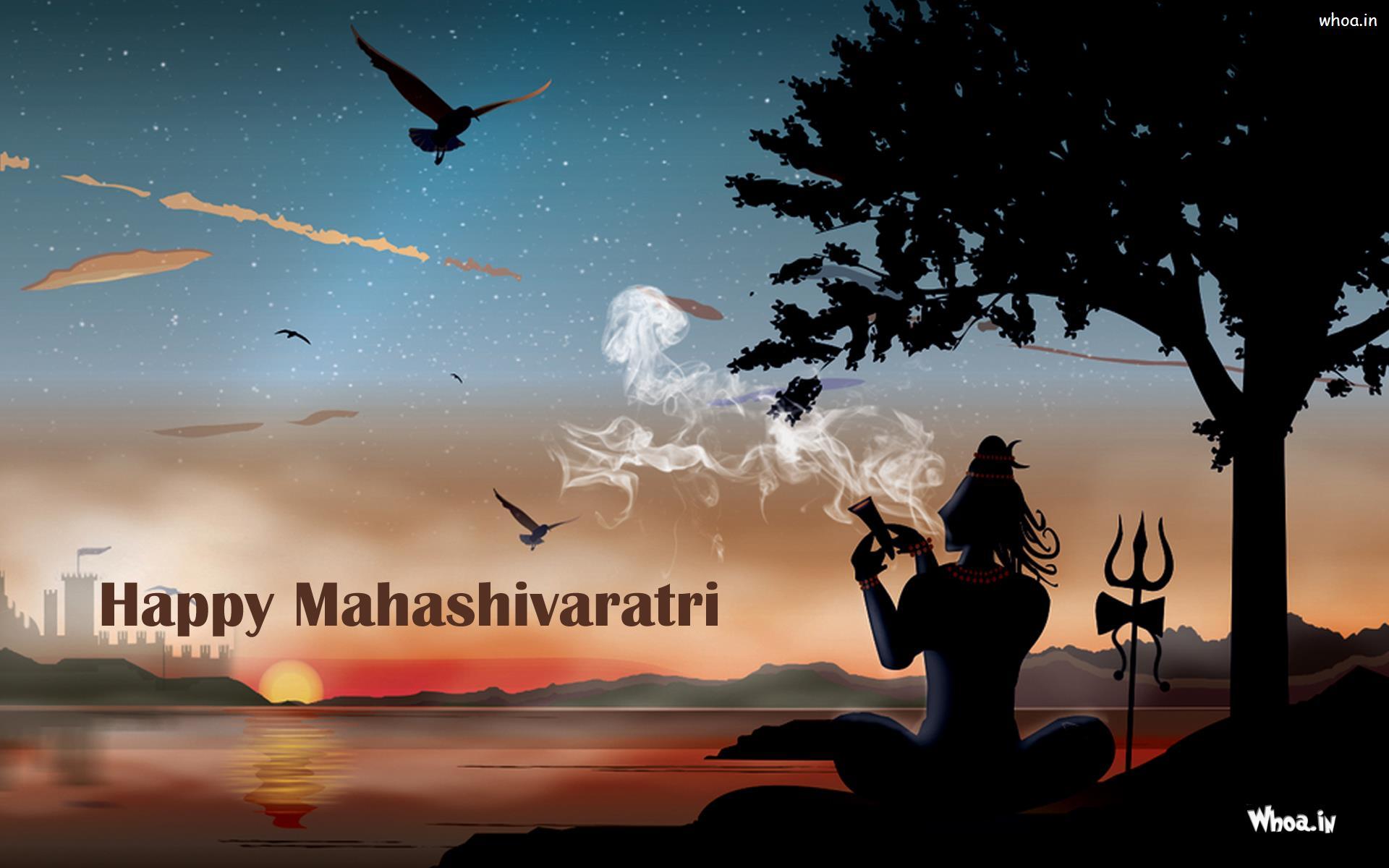 Wallpaper Of Lord Shiva With Smoking Hukka Maha Shivaratri