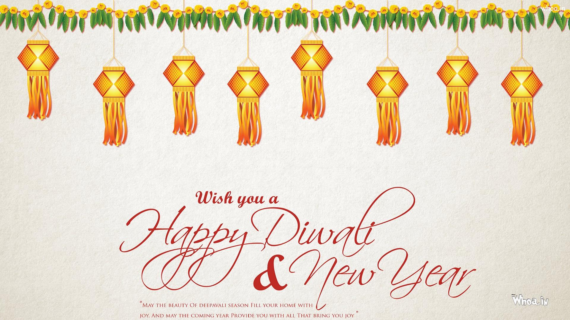 wish you a happy diwali and happy new year with quotes hd wallpaper happy new year with quotes hd wallpaper