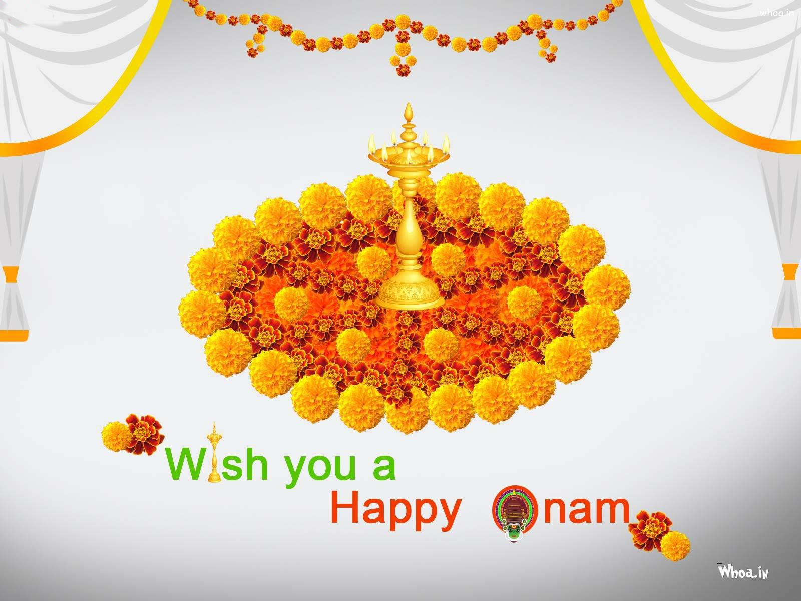 Wish You Happy Onam Hd Greetings Wallpaper