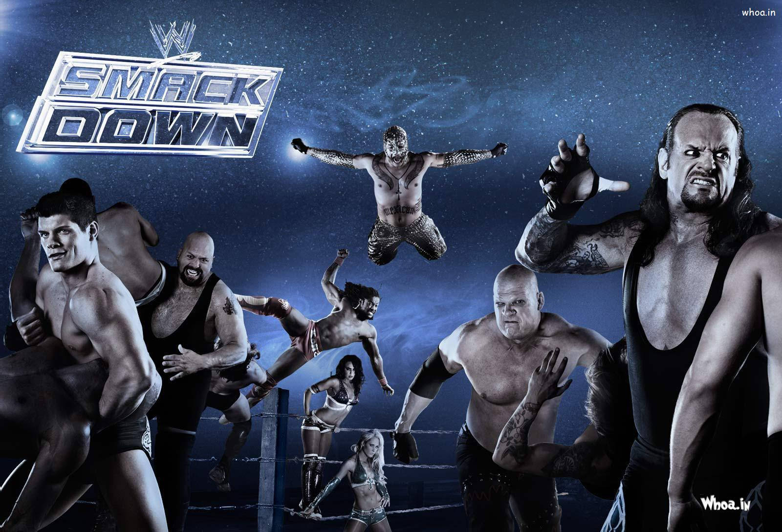 Wwe Smackdown With All Wwe Wrestlers Hd Wallpaper
